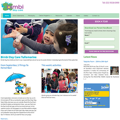 Online Marketing Melbourne | Bimbi Day Care | Essendon Creative
