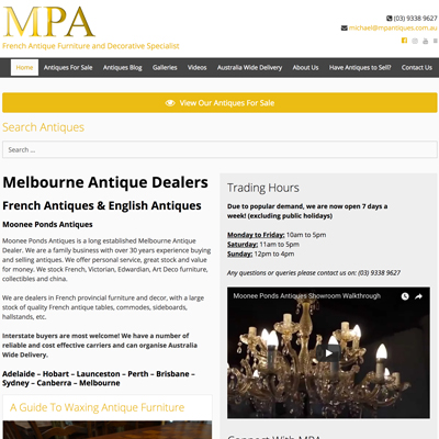 Online Marketing Melbourne | Moonee Ponds Antiques | Essendon Creative