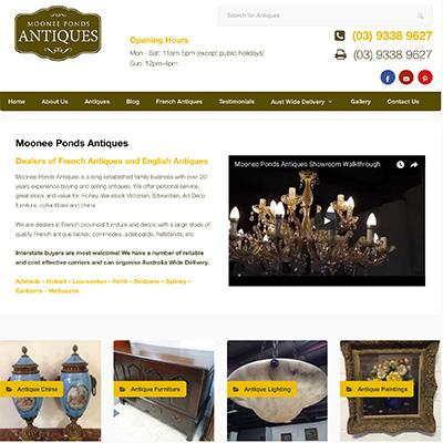Online Marketing Melbourne | Moonee Ponds Antiques | Essendon Creative