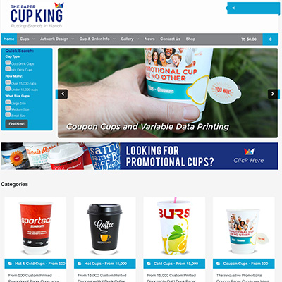 Online Marketing Melbourne | The Paper Cup King | Essendon Creative