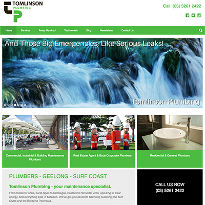 Online Marketing Melbourne | Tomlinson Plumbing | Essendon Creative