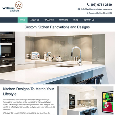 Online Marketing Melbourne | Williams Cabinets | Essendon Creative
