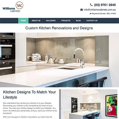 Online Marketing Melbourne   Williams Cabinets   Essendon Creative
